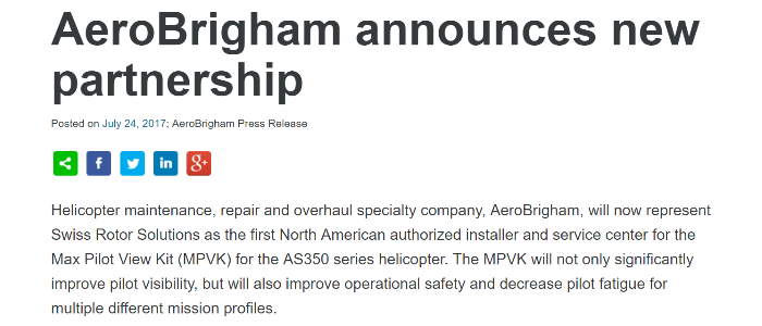 AeroBrigham Partnership 700x300