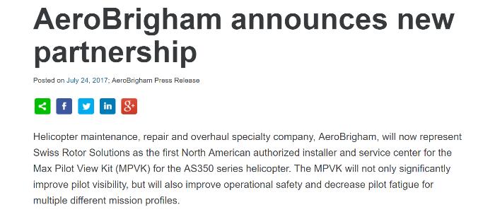 AeroBrigham Partnership 700x300